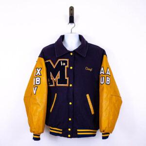 Marlboro Purple Yellow Varsity Letterman Jacket