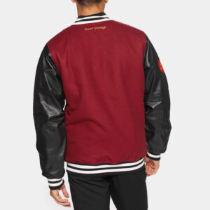 Maroon Black Prozis Baseball Varsity Jacket