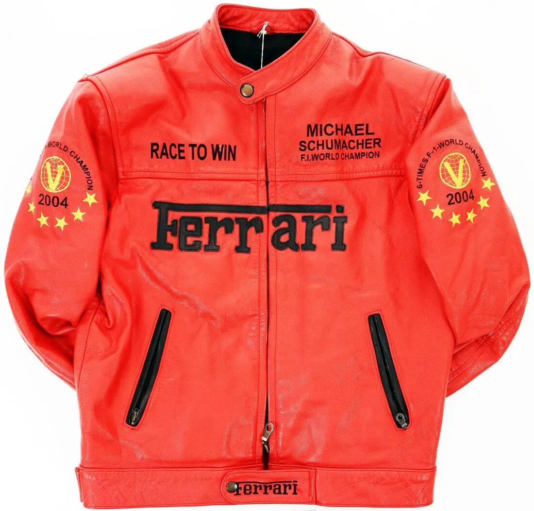Michael Schuhmacher Ferrari Motorcycle Leather Jacket