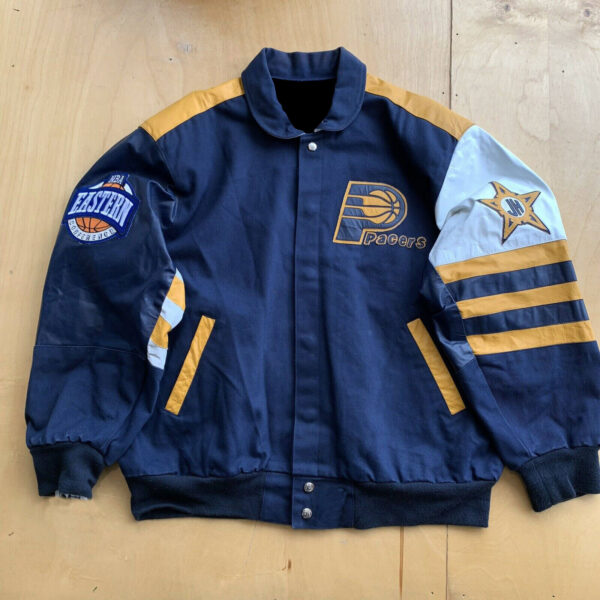 NBA Indiana Pacers Jeff Hamilton Leather Jacket