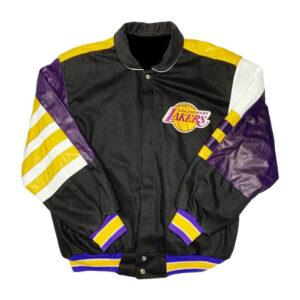 NBA Los Angeles Lakers Jeff Hamilton Leather Jacket