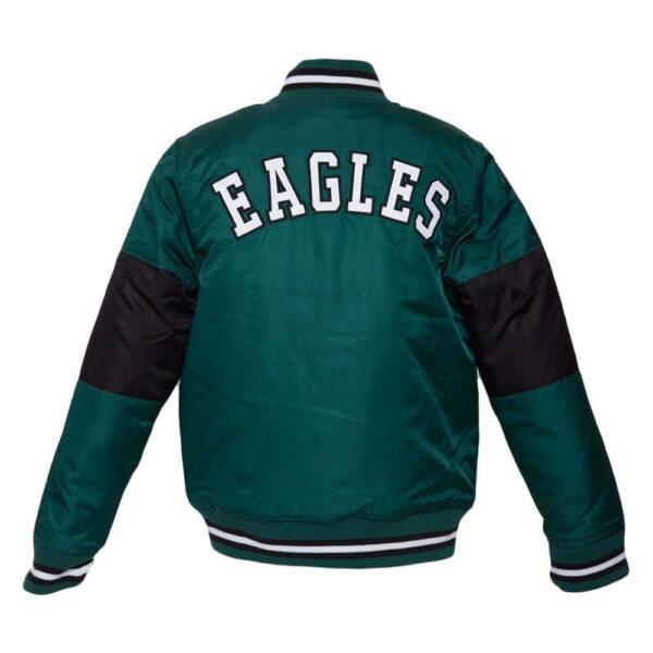 NFL Philadelphia Eagles Throwback Youth Satin Jacket