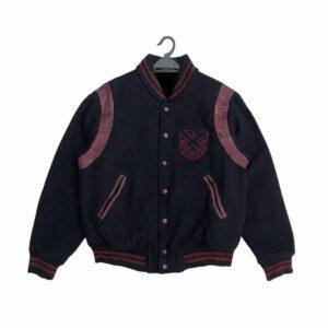 Navy Blue 90s Mcgregor American Spirit Varsity Jacket