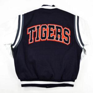 Navy Blue Jackson State University Varsity Jacket