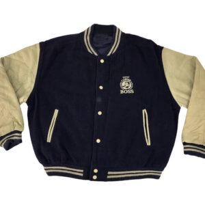 Navy Blue Suntory Boss Coffee Varsity Jacket