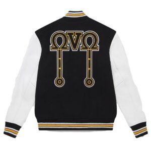 Octobers Very Own Omega Black Varsity Jacket