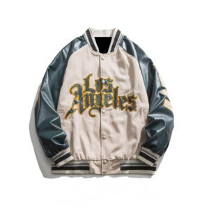 Off White Los Angeles Bomber Varsity Jacket
