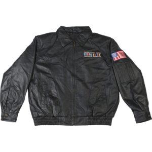 Operation Iraqi Freedom Veteran Leather Bomber Jacket
