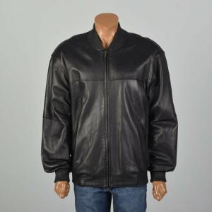 Pelle Pelle Black Bomber Leather Jacket