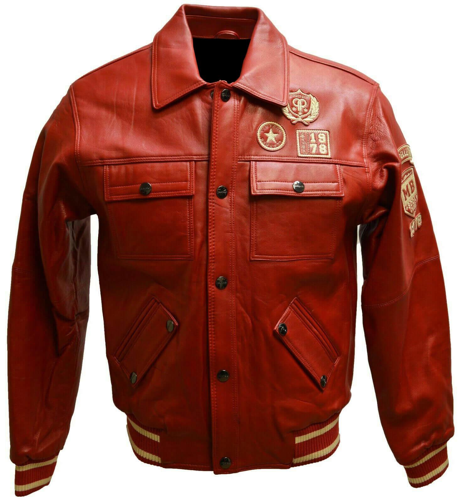 Pelle Pelle Red Marc Buchanan Vintage Leather Jacket