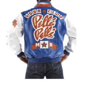 Pelle Pelle Soda Club Blue Leather JacketPelle Pelle Soda Club Blue Leather Jacket