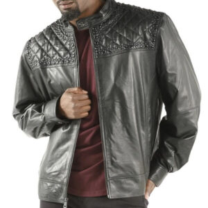Pelle Pelle Studded Quilt Black Elena Jacket