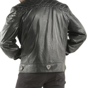 Pelle Pelle Studded Quilt Black Elena JacketPelle Pelle Studded Quilt Black Elena Jacket