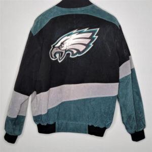 Philadelphia Eagles Suede Colorblock Jacket