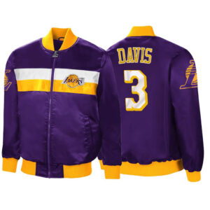 Purple Anthony Davis Satin Los Angeles Lakers Jacket