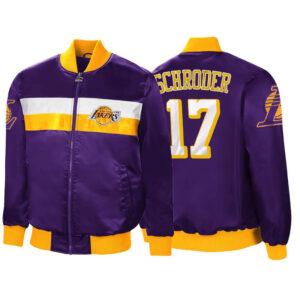 Purple Dennis Schroder Satin Los Angeles Lakers Jacket