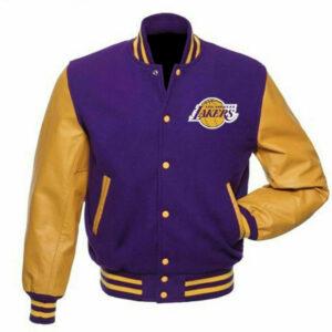 Purple Gold Los Angeles Lakers Varsity Jacket