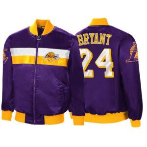 Purple Kobe Bryant Satin Los Angeles Lakers Jacket