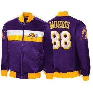 Purple Markieff Morris Satin Los Angeles Lakers Jacket