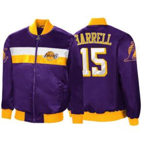 Purple Montrezl Harrell Satin Los Angeles Lakers Jacket