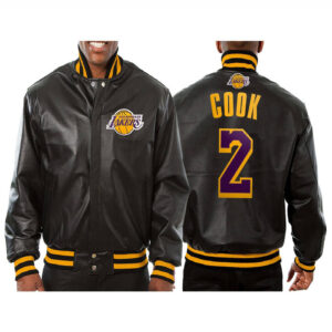 Quinn Cook Los Angeles Lakers Leather Jacket
