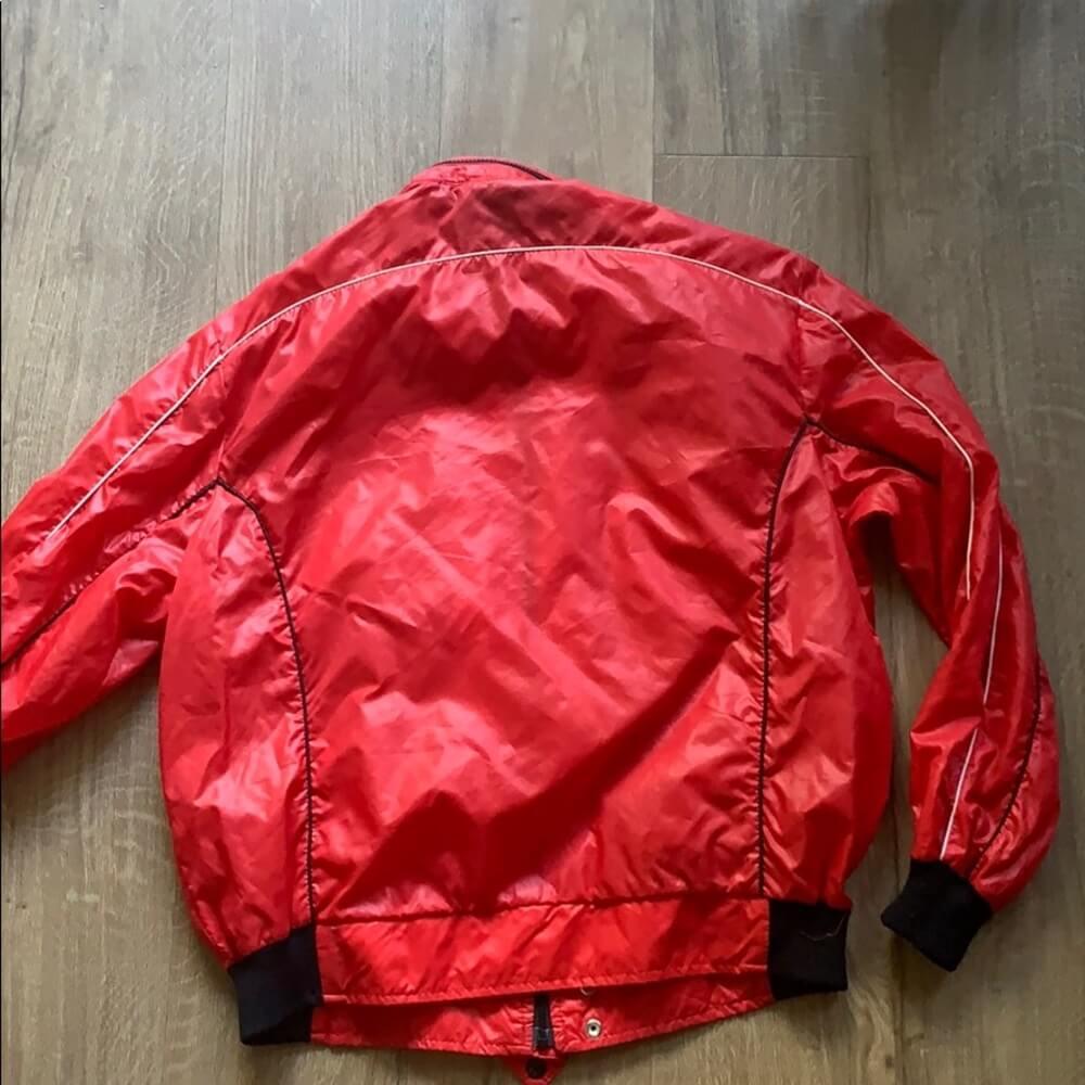 Red Rana Del Ferrari Windbreaker Racing Jacket