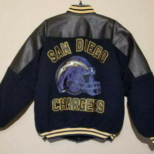 San Diego Chargers Blue Black Varsity Jacket