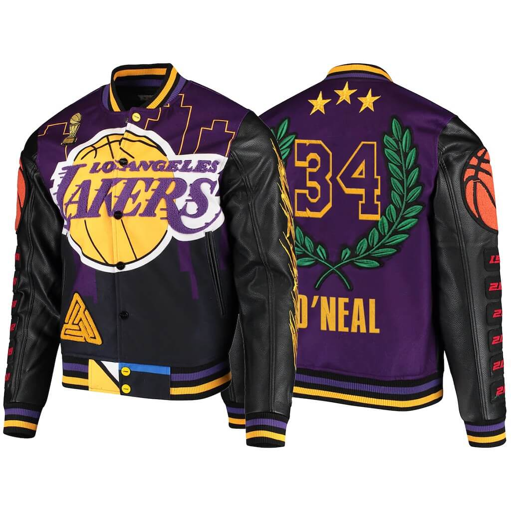 Shaquille O'Neal Los Angeles Lakers Wool Jacket