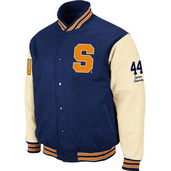 Syracuse S Letterman Blue Jacket