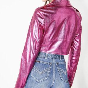 The Hot Chick Metallic Pink Short Jacket