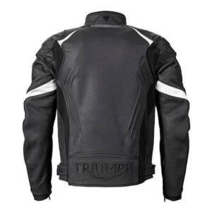 Triumph Motorcycle Black Leather Jacket