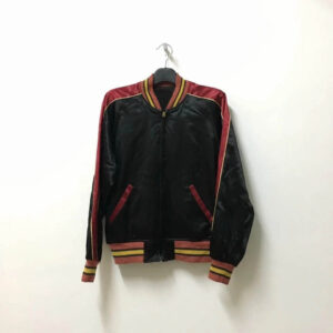 Vintage 90s Indian Motorcycle Embroidered Satin Jacket