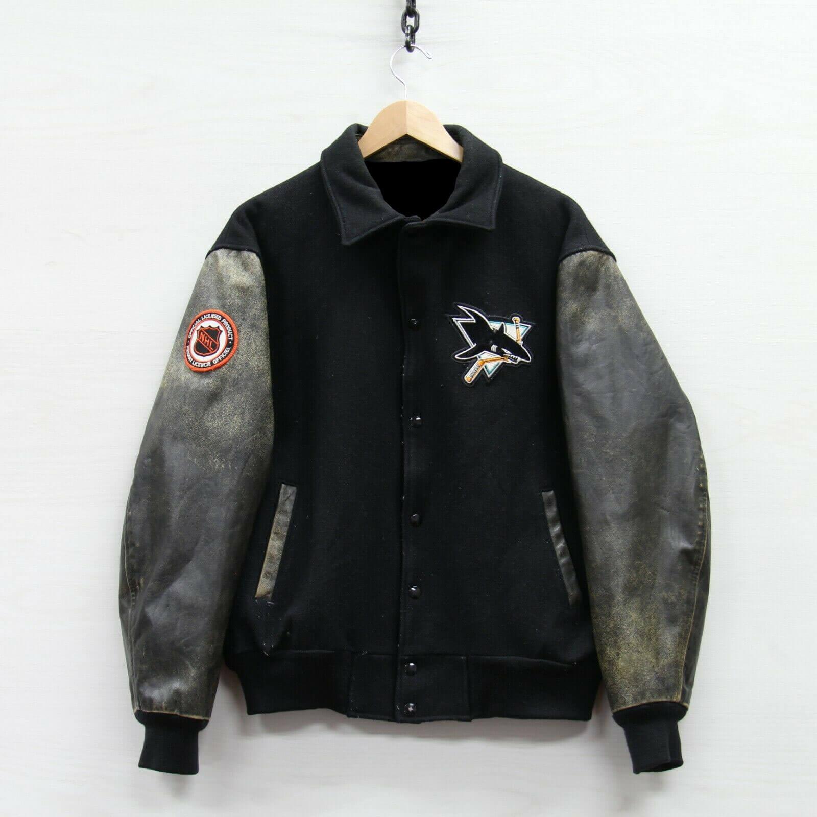 Vintage Black San Jose Sharks Varsity Jacket