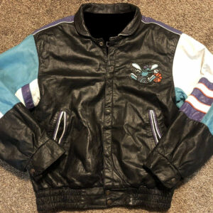 Vintage Charlotte Hornets Jeff Hamilton Leather Jacket