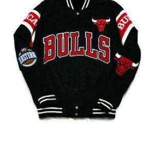 Vintage Chicago Bulls Black Varsity Letterman Jacket