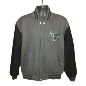 Vintage Chicago Bulls Reversible Grey Varsity Jacket