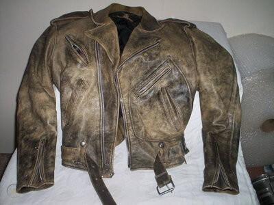 Vintage Indian Motorcycle Racing Leather Jacket