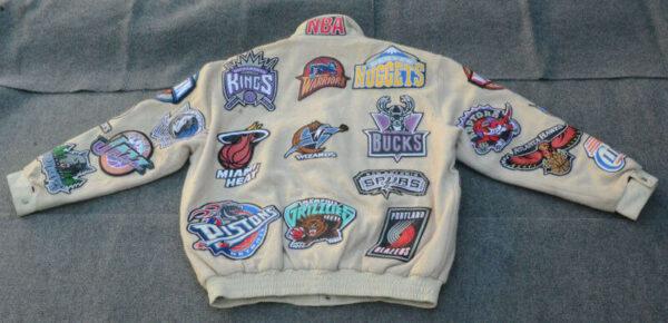 Vintage Jeff Hamilton NBA Teams Leather Jacket