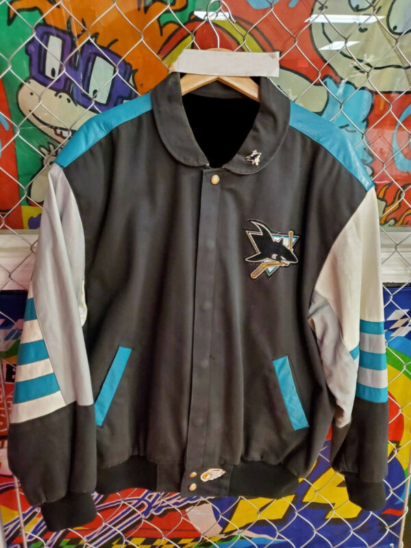 Vintage Jeff Hamilton San Jose Sharks Leather Jacket