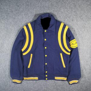 Vintage Macbeth Blue Varsity Letterman Jacket
