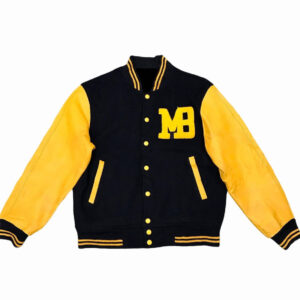 Vintage Macbeth MB Black Yellow Varsity Jacket