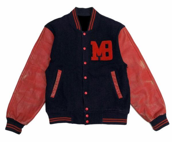 Vintage Macbeth MB Blue Red Varsity Jacket