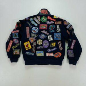 Vintage NBA Teams Patches Jeff Hamilton Wool Jacket