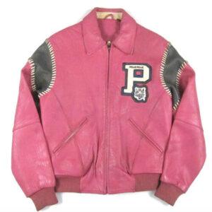 Vintage Pink Pelle Pelle Leather Jacket