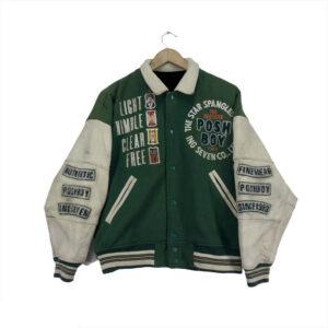 Vintage Posh Boy Letterman Varsity Jacket