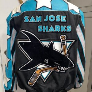 Vintage San Jose Shark Jeff Hamilton Reversible Jacket