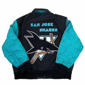 Vintage San Jose Shark Jeff Hamilton Varsity Jacket