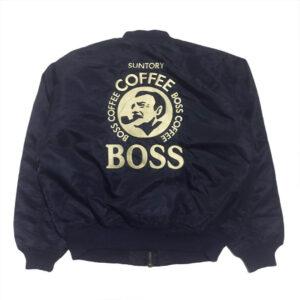 Vintage Suntory Boss Coffee Bomber Jacket