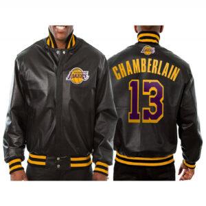 Wilt Chamberlain Los Angeles Lakers Leather Jacket