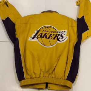 Yellow NBA Los Angeles Lakers Leather Jacket